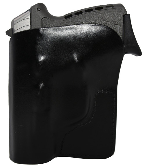 Black Italian Leather Pocket Holster for SCCY CPX 1 & 2 and Similar Guns