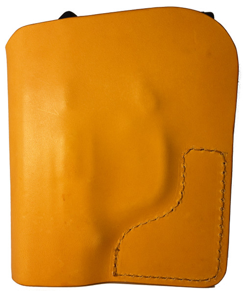 Tan Italian Leather Pocket Holster for S&W Bodyguard 380 and Similar Guns