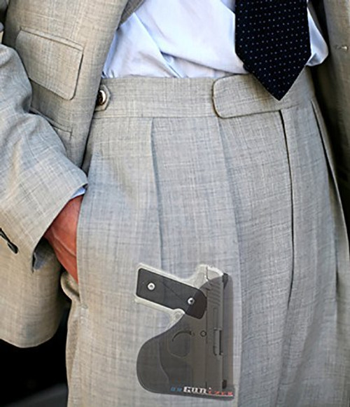 Garrison Grip Custom Fit Leather-Trimmed Pocket Holster Concealed Carry Comfort, Kimber Solo Carry 9mm (C)