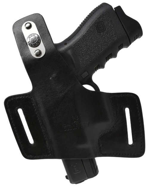 Garrison Grip Black Italian Leather Tactical Holster For All Large GLOCKS Models