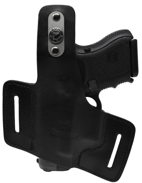 Garrison Grip Quality Black Italian Leather Tactical Holster For GLOCK 26 27 33 39 (GF1)