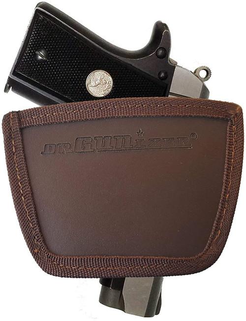 Garrison Grip Leather Inside and Outside Waistband Easy Slide Holster Fits Colt Mustang 380 Black