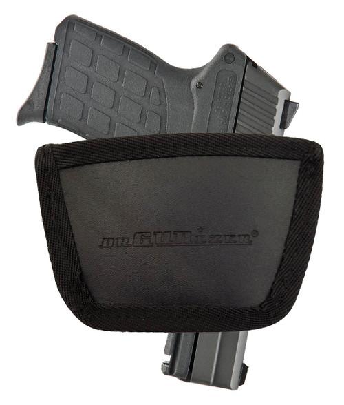 Garrison Grip Leather Inside and Outside Waistband Easy Slide Holster Fits Kel-Tec PF9 Black