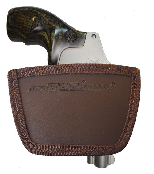 Garrison Grip Leather Inside and Outside Waistband Easy Slide Holster Fits Smith & Wesson J Frame (SLH) Brown