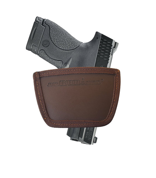 Garrison Grip Leather Inside and Outside Waistband Easy Slide Holster Fits Smith & Wesson M&P 9 & 40 Shield (SLH) Brown