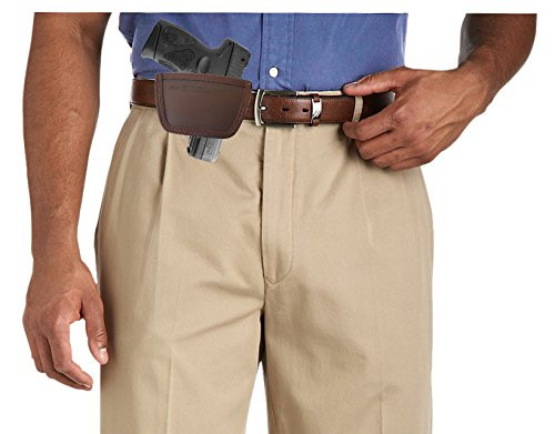 Garrison Grip Leather Inside and Outside Waistband Easy Slide Holster Fits Taurus PT111 (SLH) Brown