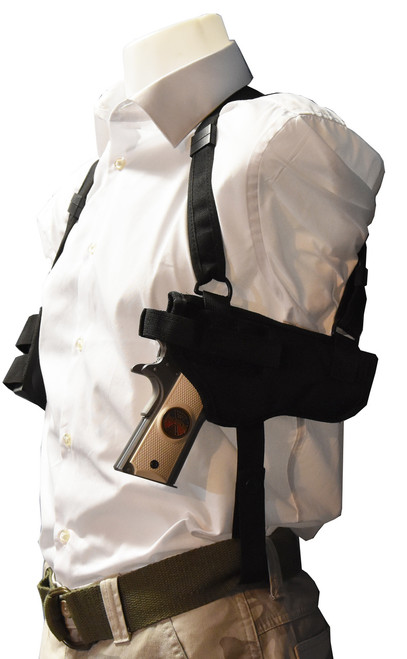 Garrison Grip Horizontal Shoulder Holster Fits 1911, GLOCK 17, 19, 22, 23, 31...