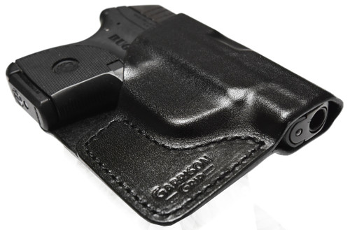 Premium Stitch Black Italian Leather Pocket Holster for Ruger LCP and LCP II