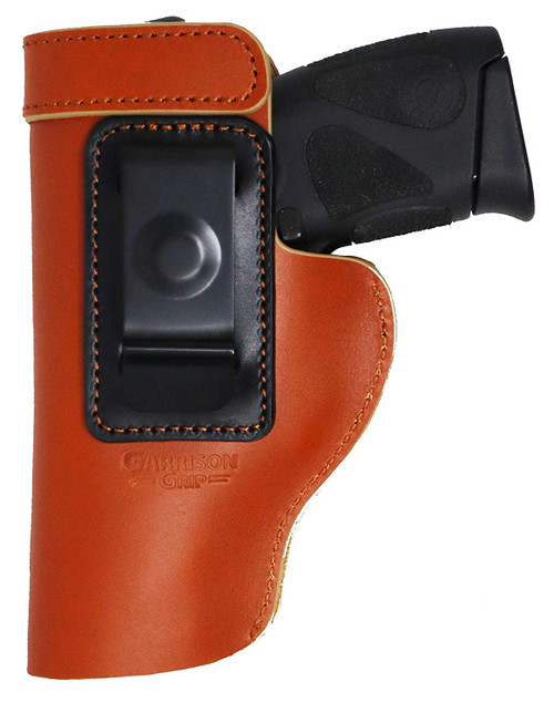 Garrison Grip Premium Brazilian Leather IWB Holster Fits Most Mid to Large Size Guns.