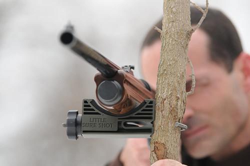 'Little Sure Shot Ultra Big Mouth'  Gun Rest  Safety Orange Color NEW