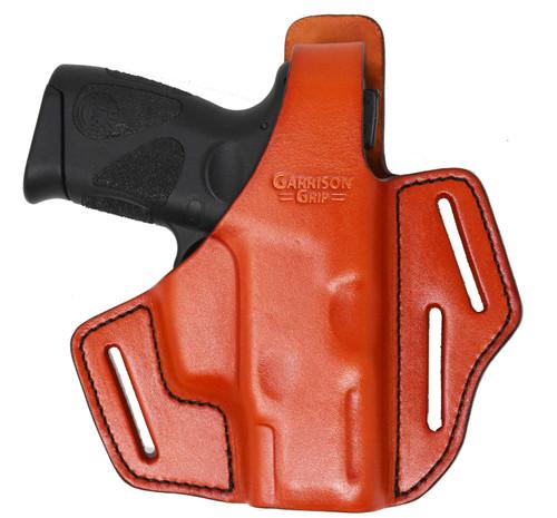 Garrison Grip Premium Full Grain Italian Leather 2 Position Tactical Holster Fits TAURUS PT111 ( Gen2, G2, G2c) (Tan)