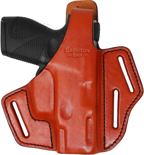 Garrison Grip Premium Full Grain Italian Leather 2 Position Tactical Holster Fits TAURUS PT709 (Tan)