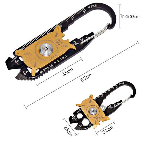 Garrison Grip 20 in 1 Screwdriver Wrench Keychain EDC Stainless Steel Multi Tool