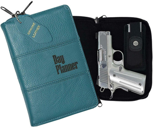 Garrison Grip Quality Leather CCW Day Planner Gun Case for Compact and Subcompact Guns (GTSN) TURQ