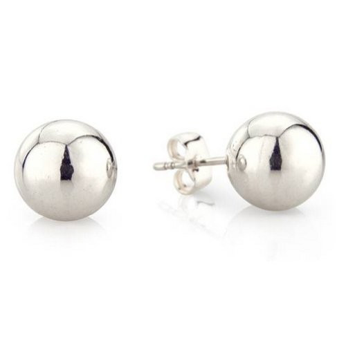 Eve & Belle 4mm 925 Sterling Silver Ball Earrings