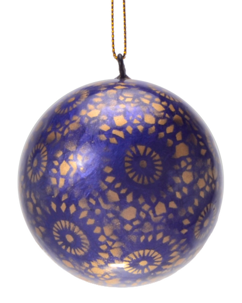 Twilight Starburst Hand Made Painted Capiz Christmas Ornament