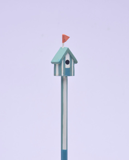 Aqua Birdhouse Made Pencil