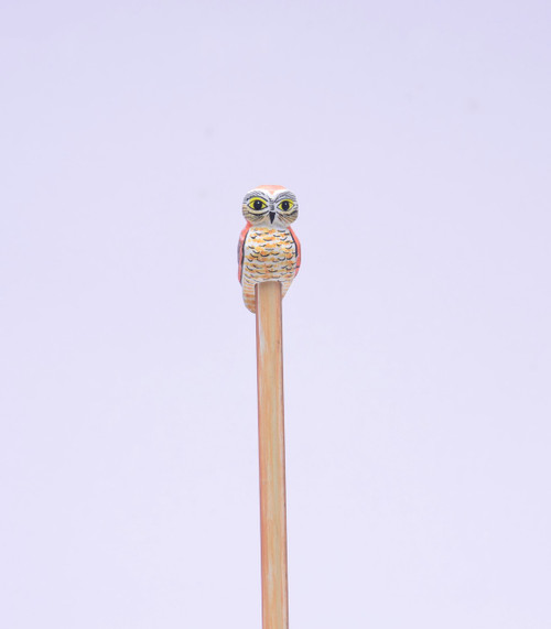 Saw-whet Owl Hand Made Pencil