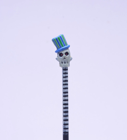 Blue Baron Skull Hand Made Pencil