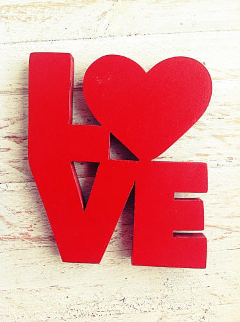 Red Love Word Magnet