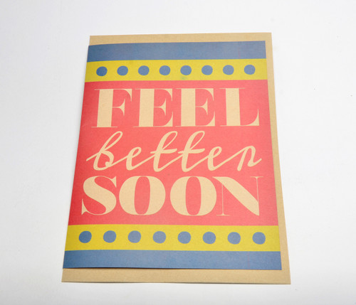 Feel Better Soon Giant Card (Blank Inside) w/ envelope