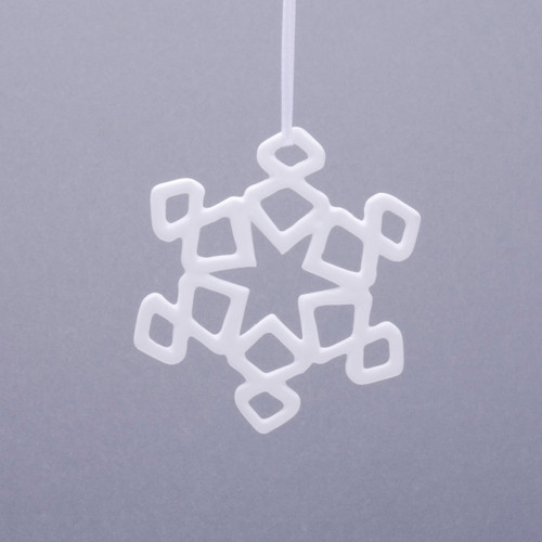 Curly Snowflake Fine Bone Ornament