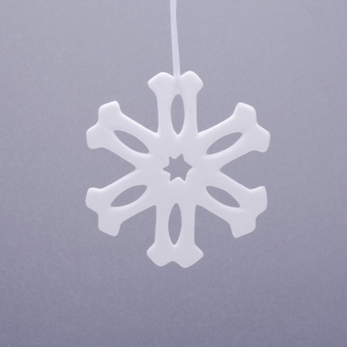 Sparkle Snowflake Fine Bone Ornament