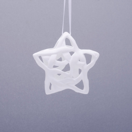 3D Star Fine Bone Ornament