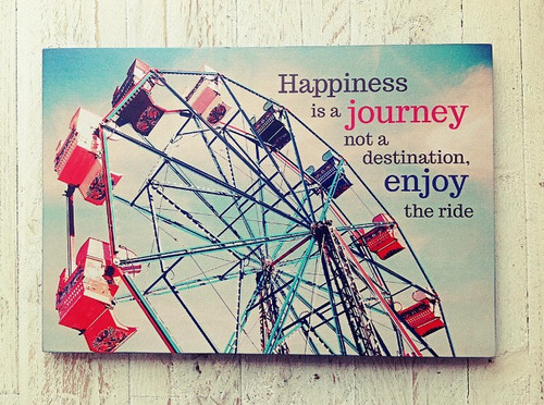 Happiness is a journey Deco Poster