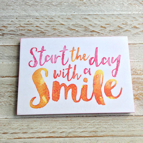 Start the day with a smile  Small Deco Poster