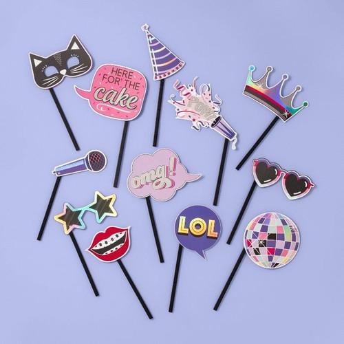 Cardstock Photo Selfie Prop with Sticks