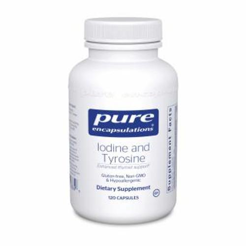 Pure Encapsulations Iodine & Tyrosine 120 capsules
