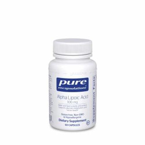 Pure Encapsulations Alpha Lipoic Acid 100 Mg. 60 capsules