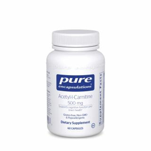 Pure Encapsulations Acetyl-L-Carnitine 500 Mg 60 capsules