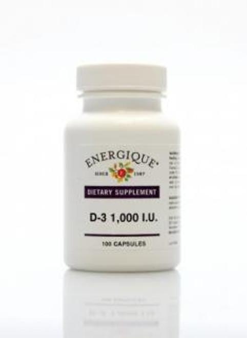 Energique D-3 1,000 I.U. 100 Capsules