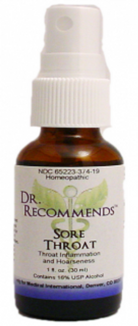 Dr. Recommends Sore Throat Spray 1oz