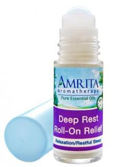 Amrita Aromatherapy Deep Rest Roll-On Relief 1 fl oz