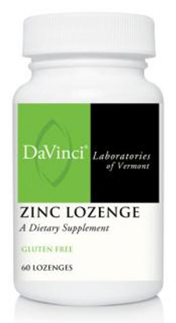 Davinci Labs ZINC LOZENGE 60 count Lemon Flavored