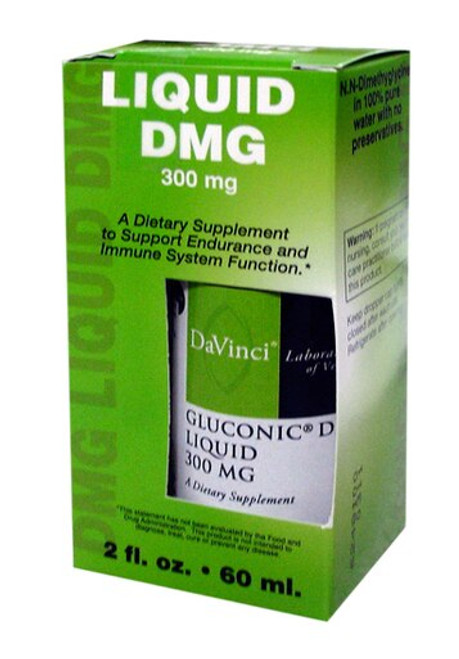Davinci Labs GLUCONIC® DMG LIQUID 300 MG 2 fl oz (60ml)