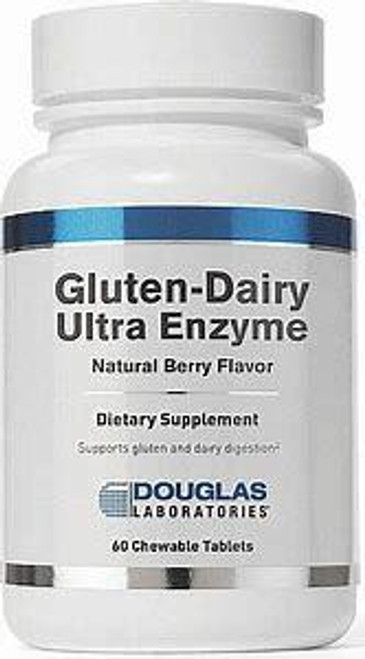 Douglas Labs Gluten-Dairy Ultra Enzyme 60 Chewable Tablets