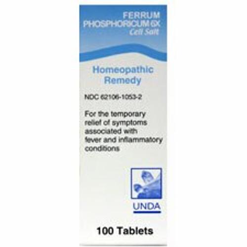 UNDA Schuessler Tissue Salts Ferrum Phosphoricum 6X 100 tabs