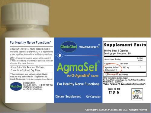 Gilad&Gilad  AgmaSet 120 capsules