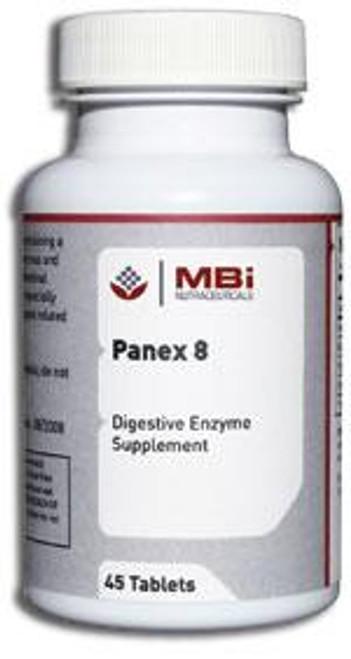 MBi Nutraceuticals Panex-8 Pancreatin 8X 60 capsules