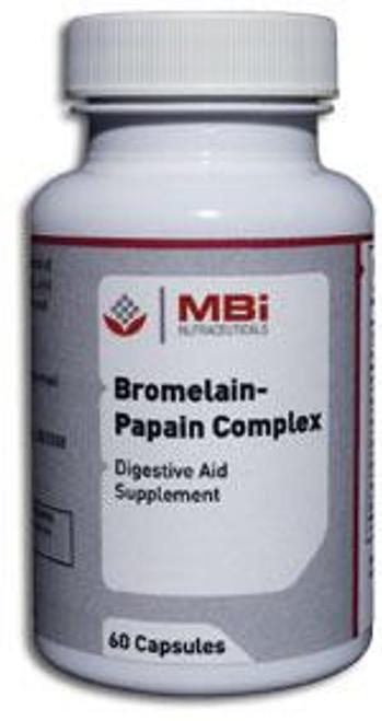 MBi Nutraceuticals Bromelain-Papain Complex 60 Capsules