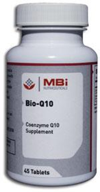 MBi Nutraceuticals Bio-Q-10 50mg Coenzyme Q10 45 Tablets