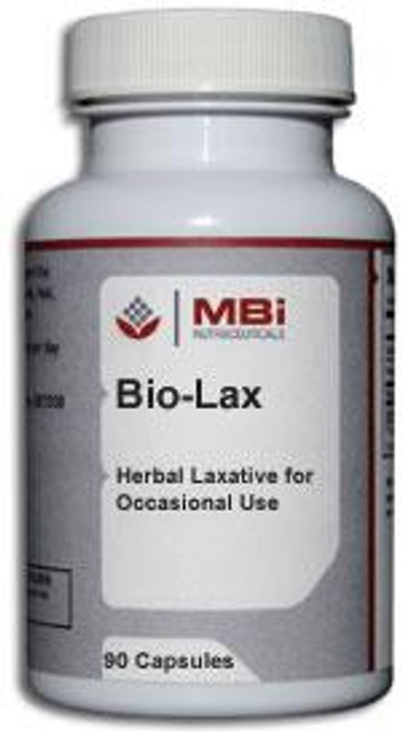 MBi Nutraceuticals Bio-Lax Herbal Combination 90 Capsules