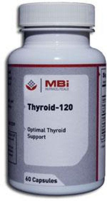 MBi Nutraceuticals Thyroid 120mg Glandular Tissue Concentrate 60 Capsules
