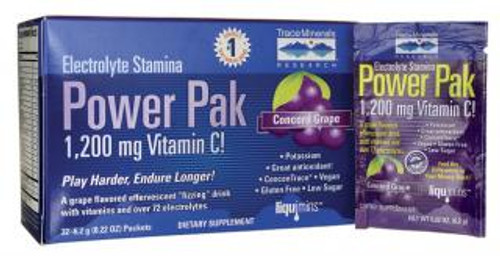 Trace Minerals Electrolyte Stamina Power Pak Concord Grape 30 Packets