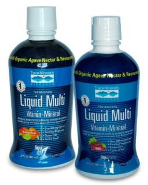 Trace Minerals Liquid Multi Vitamin-Mineral Berry 30 oz.