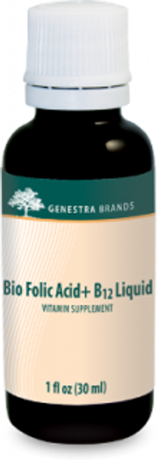 Genestra Bio Folic Acid + B12 Liquid 1 fl oz (30 ml)l